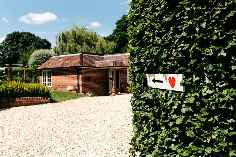 entrance to hampshire garden wedding