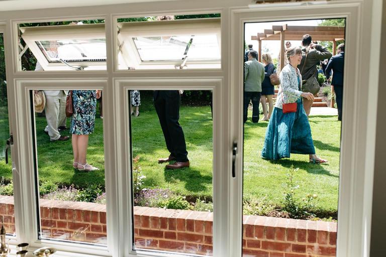 legs through the conservatory window