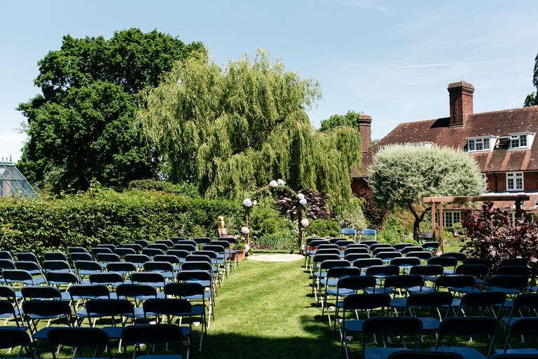 outdoor garden wedding in hampshire