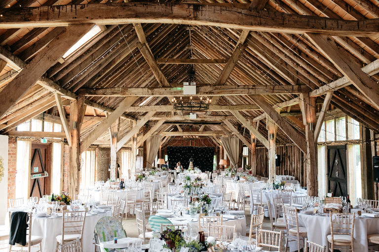 interior of the long barn in hampshire