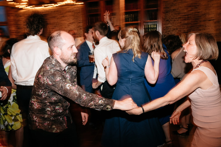 wedding reception in full swing