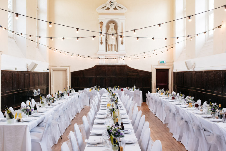 long tables for wedding breakfast