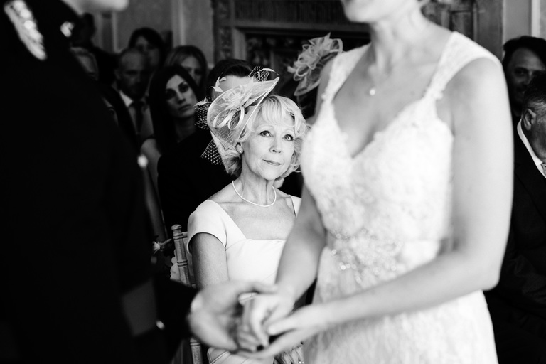 mother of the bride during ceremony