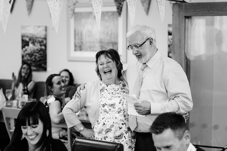 bride's mum and dad giving speech