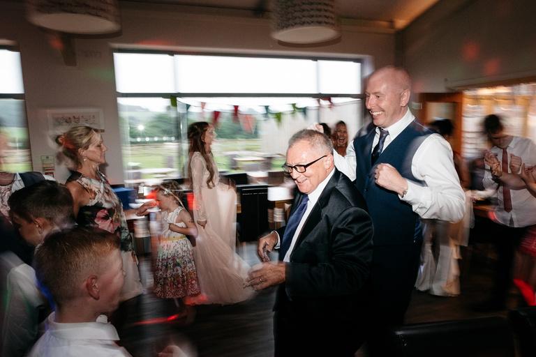 groom's dad dancing