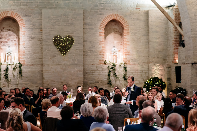 grooms speech tithe barn hampshire
