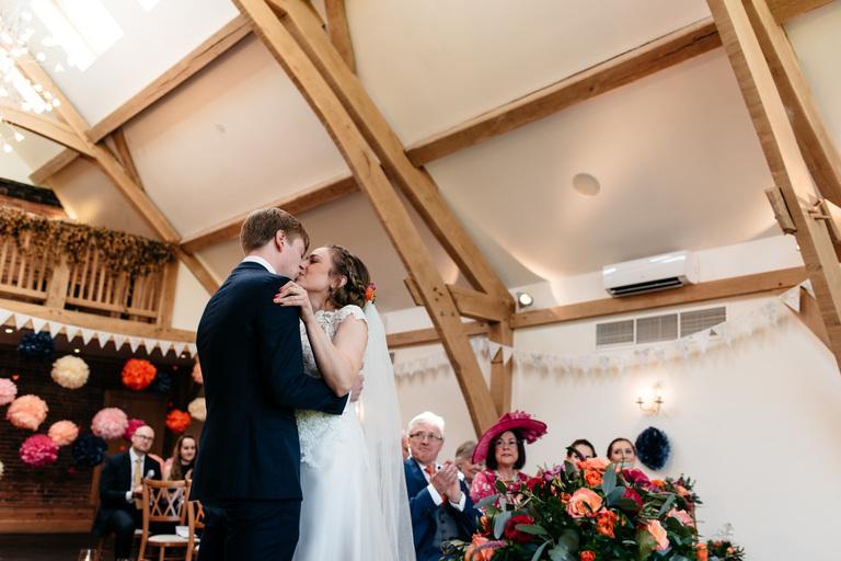 first kiss at mythe barn