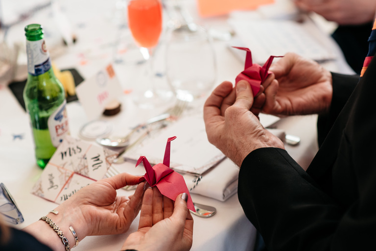 scouting girl guides wedding origami cranes