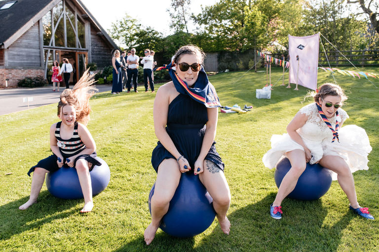 wedding jamboree space hopper race