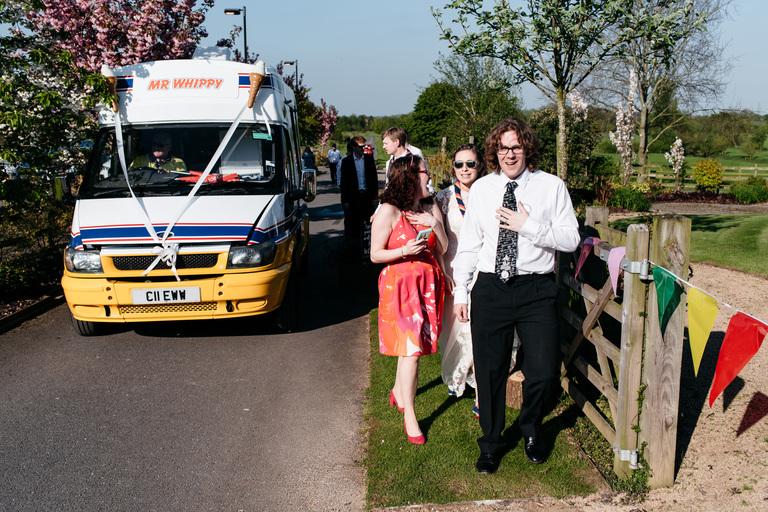 ice cream van arrives