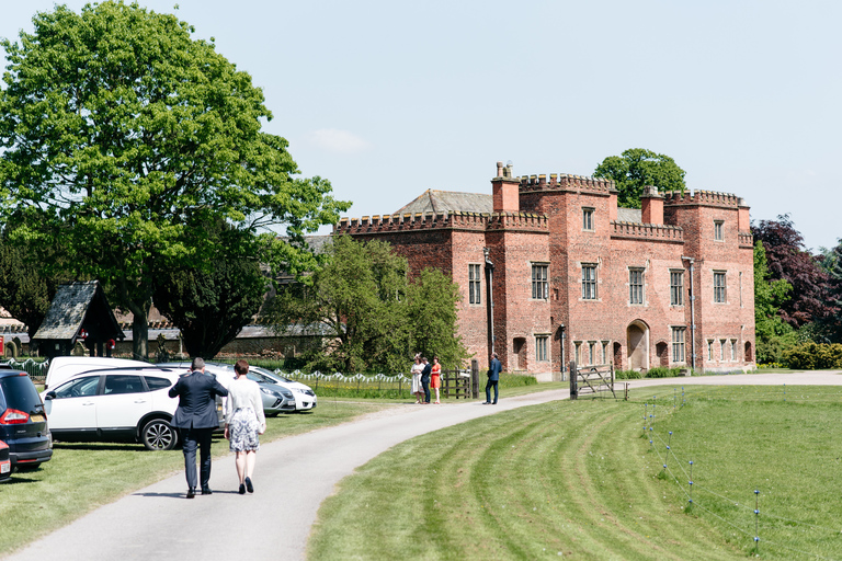 guests arriving at holme pierrepont hall