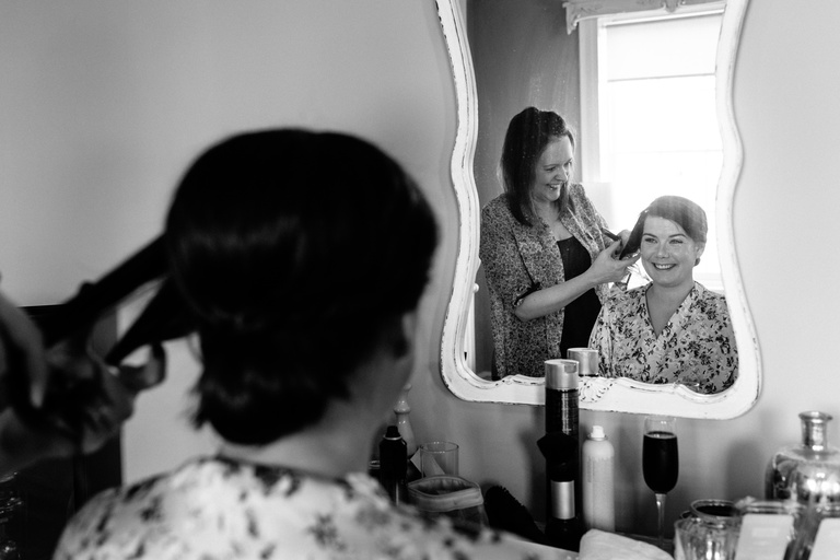 bridal prep at birchover residences bridgford hall