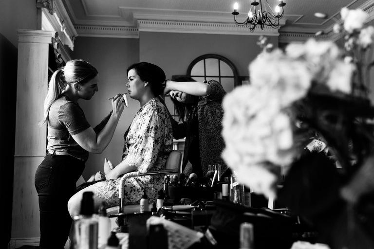 black & white wedding photography at bridgford hall