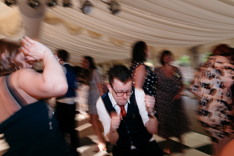 throwing shapes on the dance floor