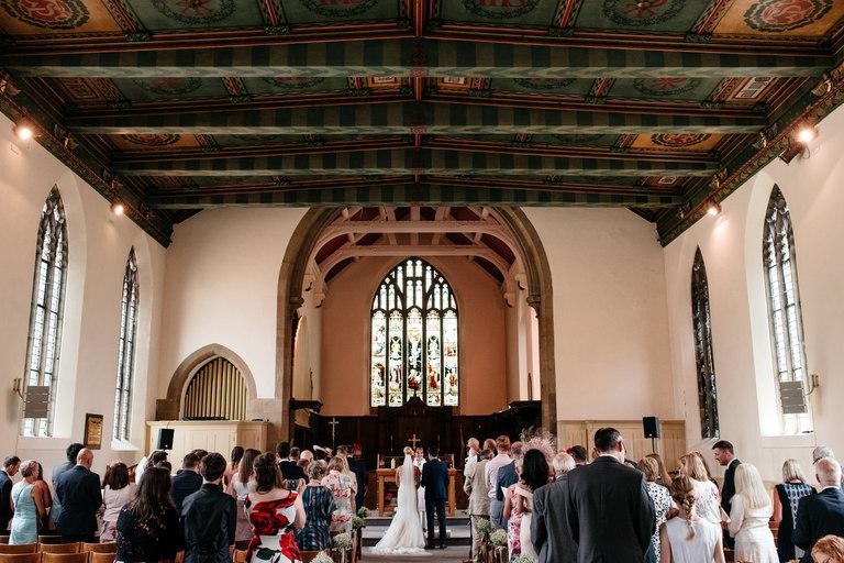 chesterfield church wedding interior