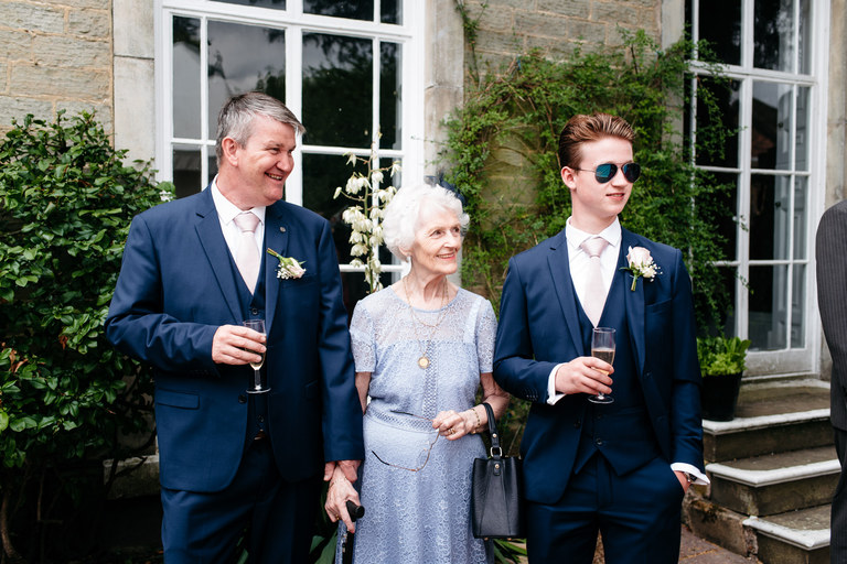 bride's grandma stood with father of the bride