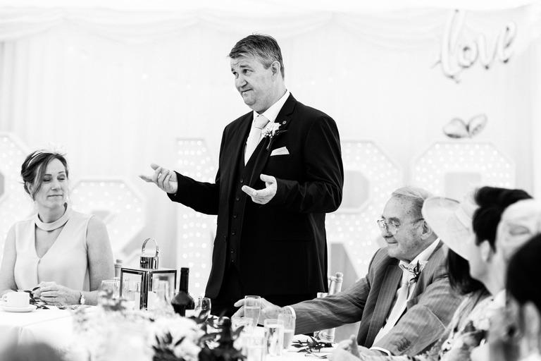 brides dad giving a speech