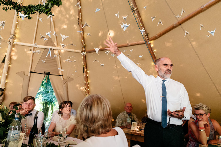 animated father of the bride's speech