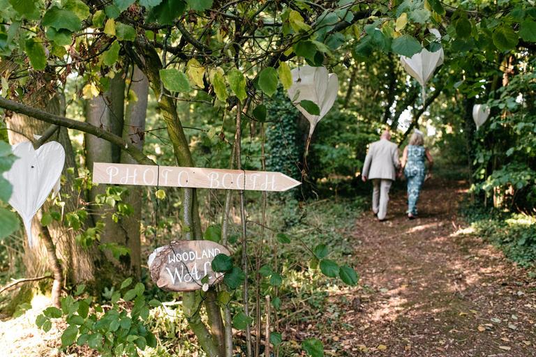 secret garden wedding reception