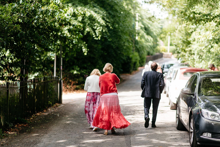 guests walking up to the church
