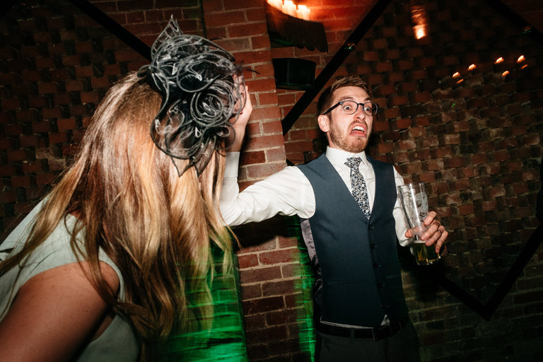 pulling faces on the dance floor