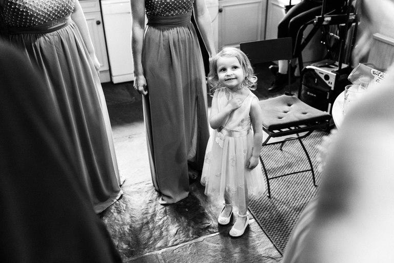 little flower girl smiling