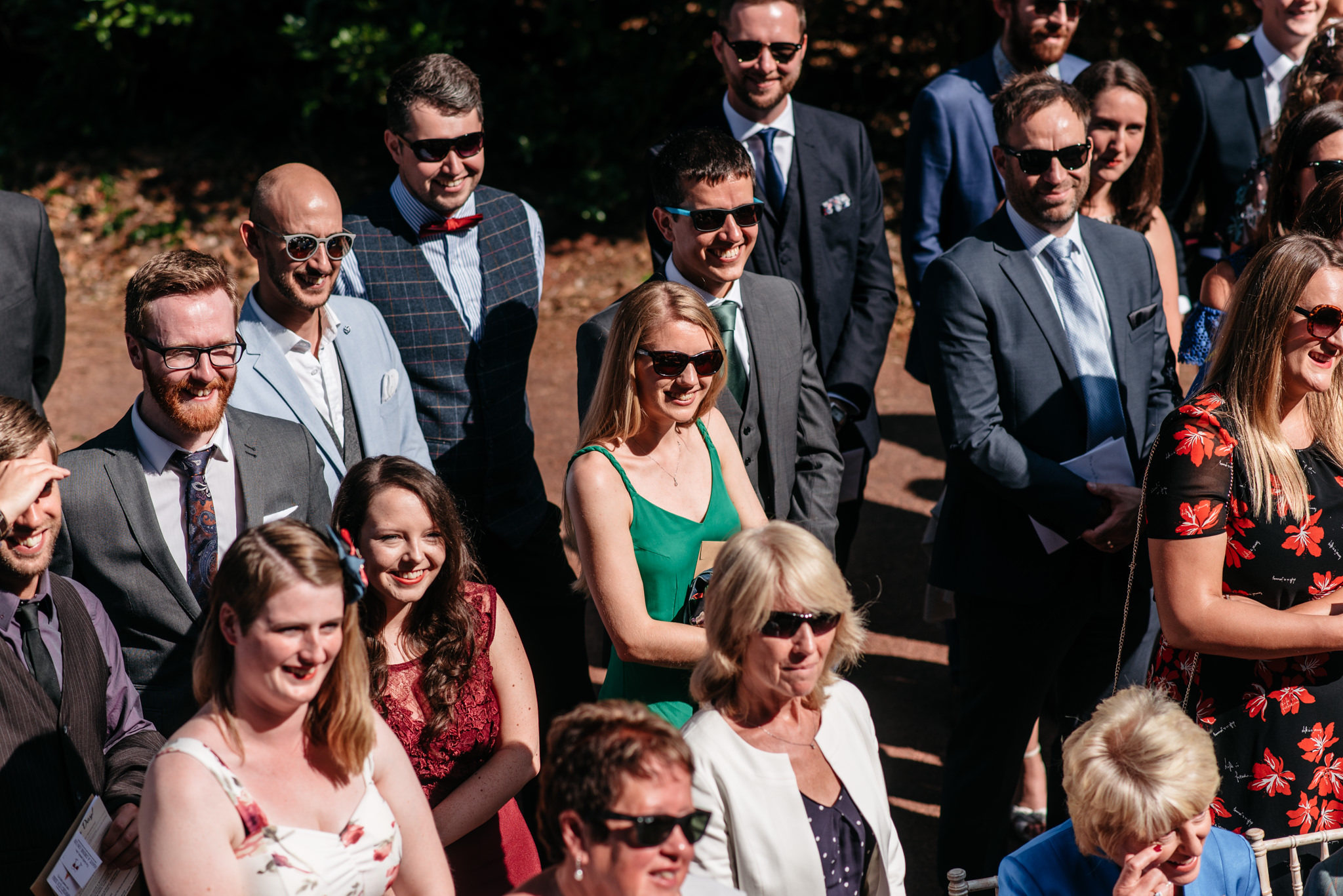 guests wearing sunglasses