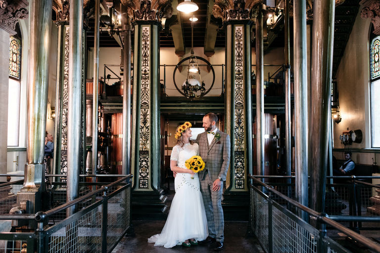 bridal portrait inside papplewick pumping station