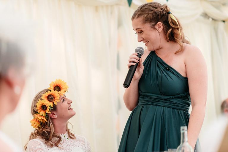 bridesmaid's speech at papplewick