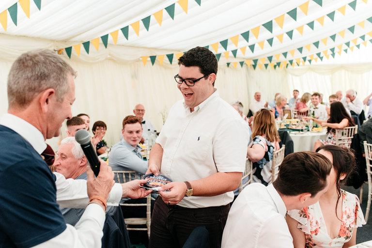 wedding raffle winner