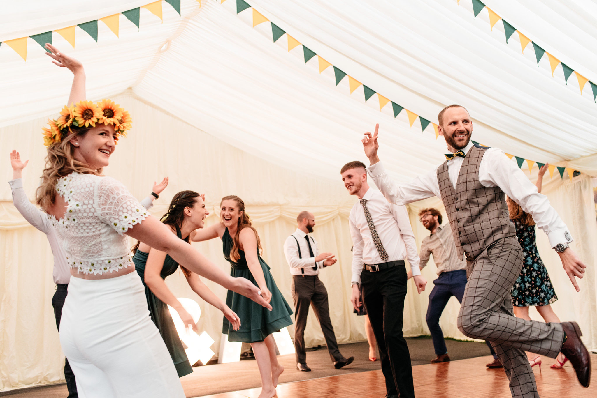 grand finale for first dance with guests