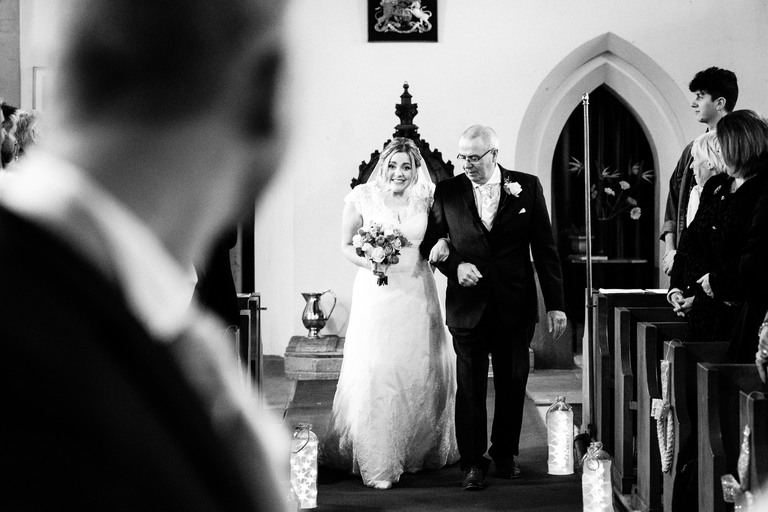 walking down the aisle ticknall church