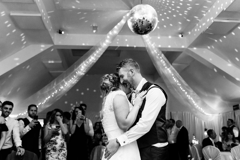 first dance under a mirror ball