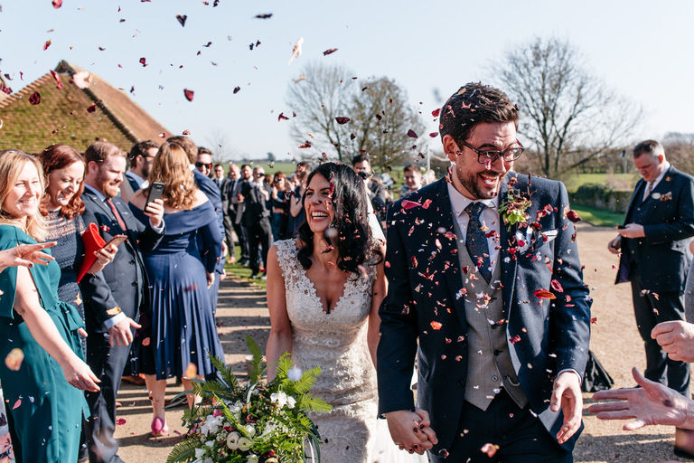 confetti shot at grittenham barn