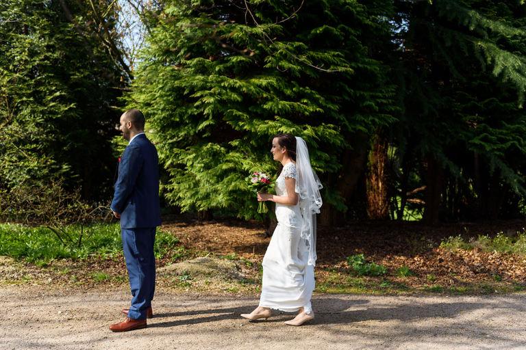 uk wedding first look bride and groom