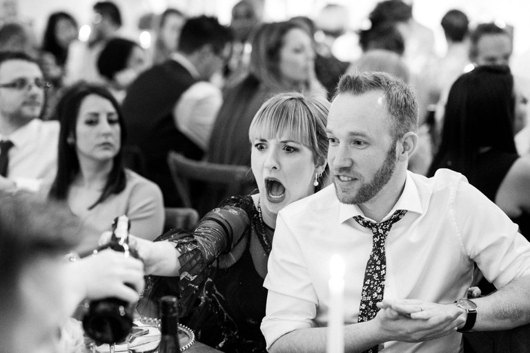 funny wedding guest shocked face