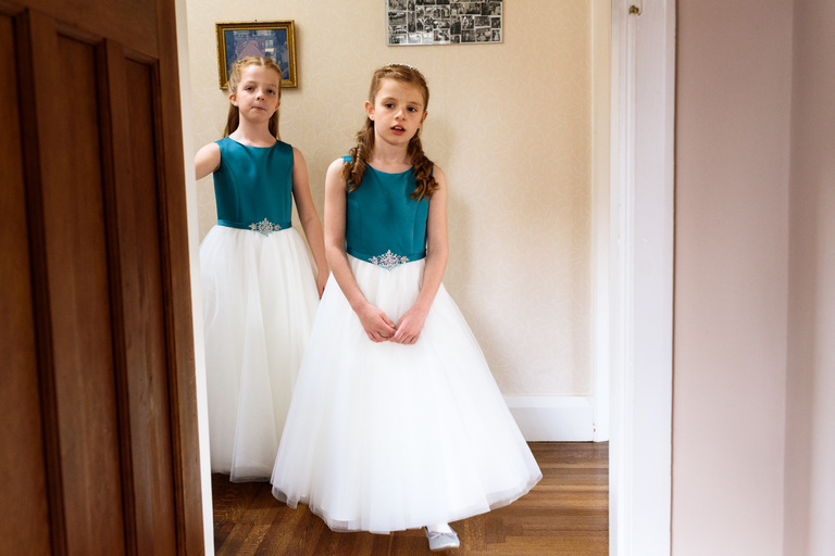 young bridesmaids in matching outifts