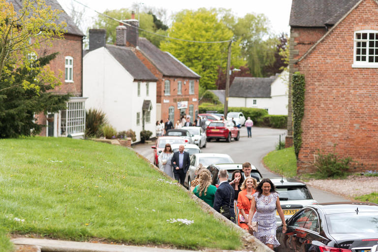 guests arriving at appleby magna church