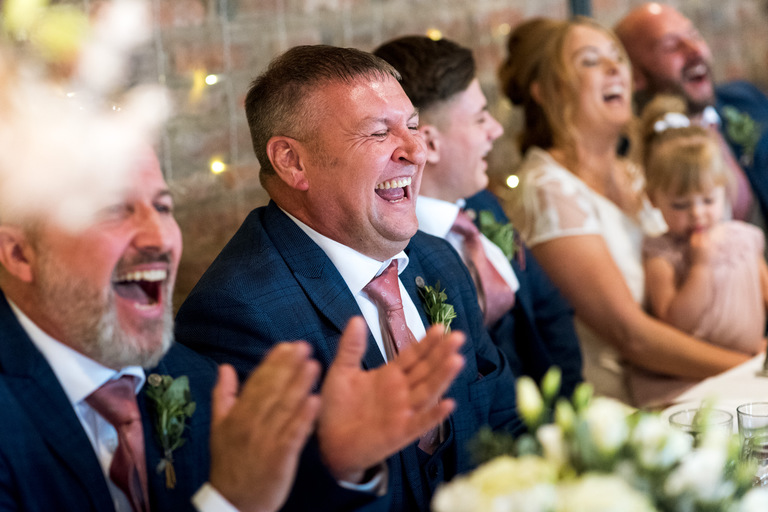 top table roaring with laughter