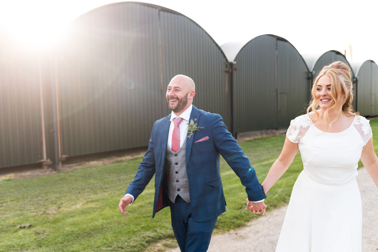 relaxed and unposed wedding portraits at norton fields