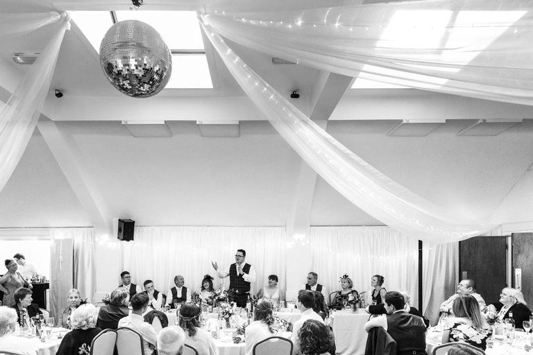 wedding speeches in ticknall village hall