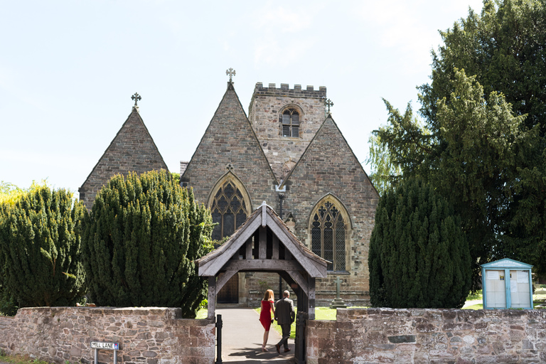 guests arriving at the church in long whatton