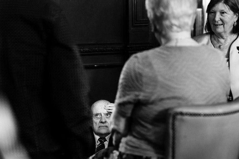 elderly gentleman having a sit down
