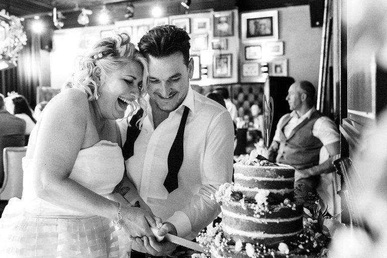 happy cake cutting