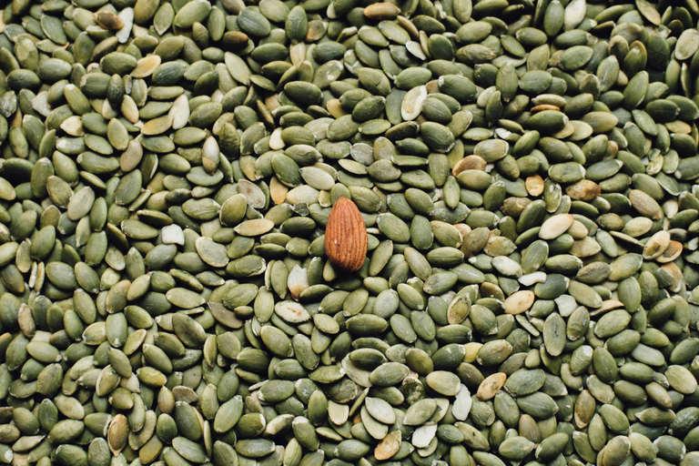 pile of pumpkin seeds