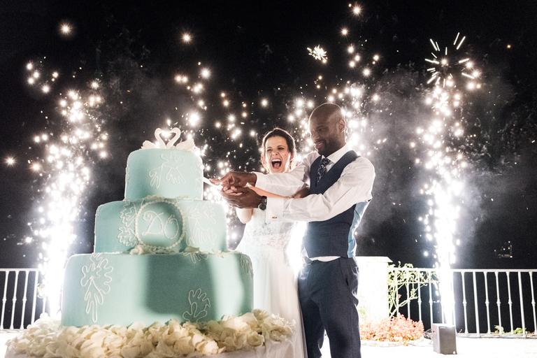 villa d'este lake como wedding cake