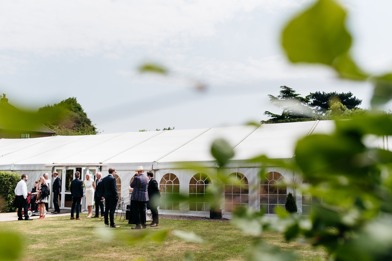 marquee in a walled garden