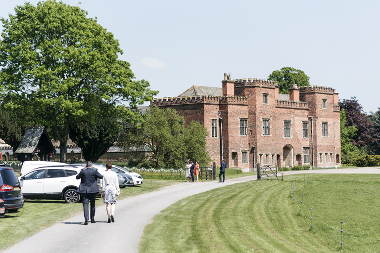 guests walking to holme pierrepont hall