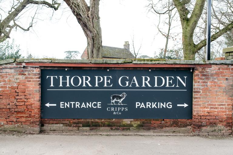 thorpe garden sign