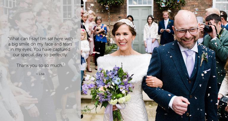 West Mill Wedding Couple Feedback